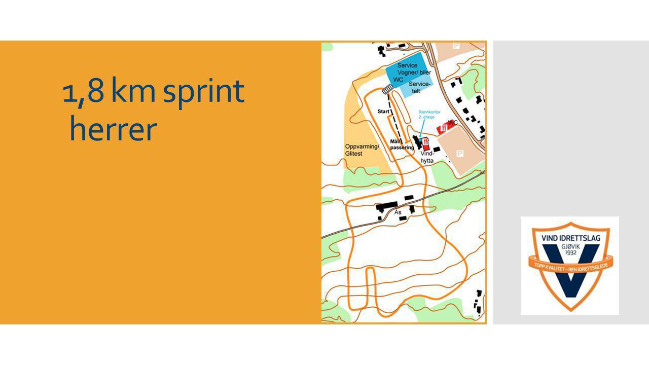 1,8 km sprint herrer