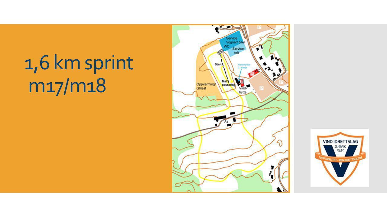 1,6 km sprint m17/m18