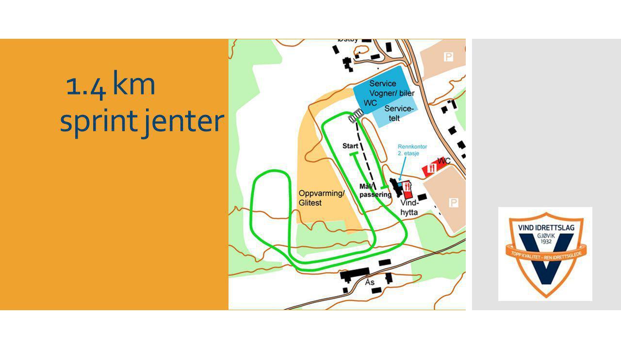 1.4 km sprint jenter