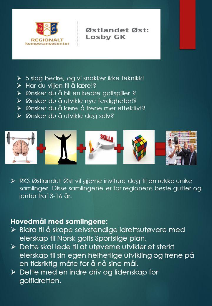  RKS Østlandet Øst vil gjerne invitere deg til en rekke unike samlinger. Disse samlingene er for regionens beste gutter og jenter fra13-16 år.  5 sl