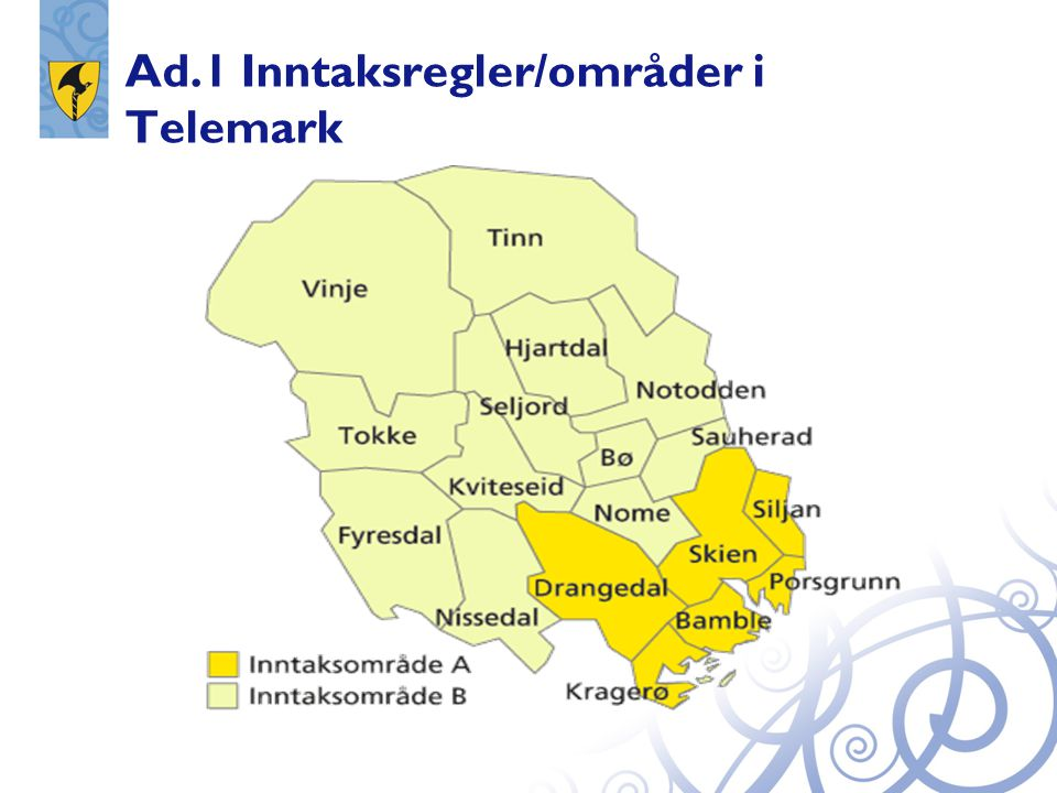 Ad.1 Inntaksregler/områder i Telemark