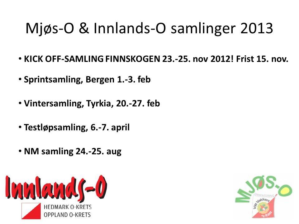 Mjøs-O & Innlands-O samlinger 2013 • KICK OFF-SAMLING FINNSKOGEN 23.-25.
