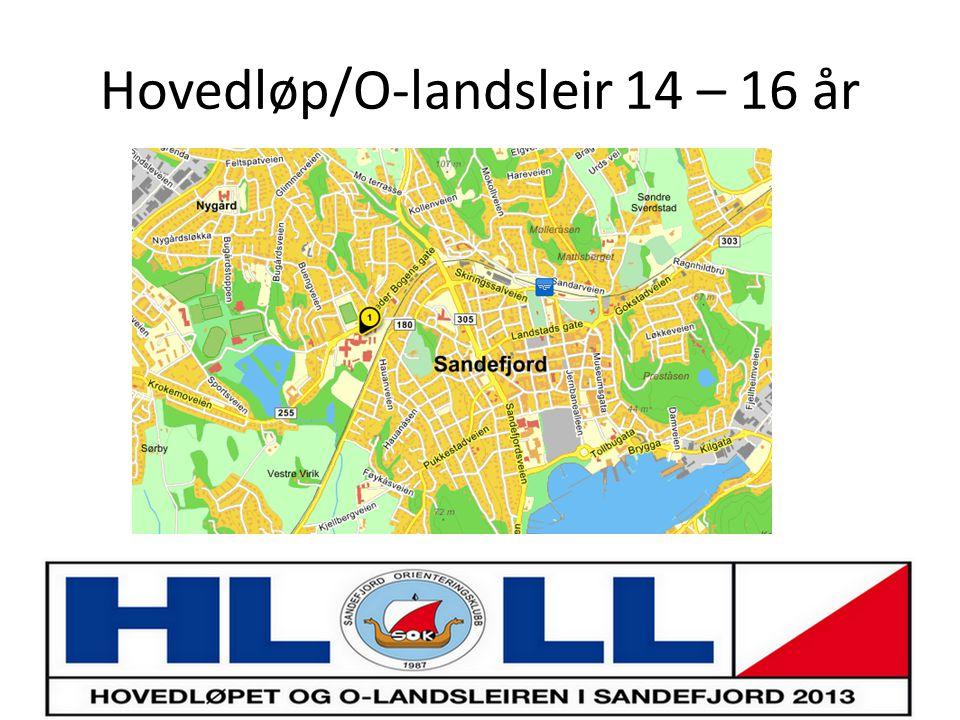 Hovedløp/O-landsleir 14 – 16 år