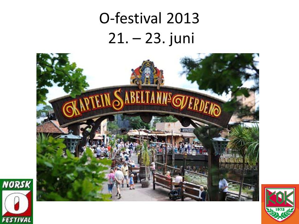 O-festival 2013 21. – 23. juni