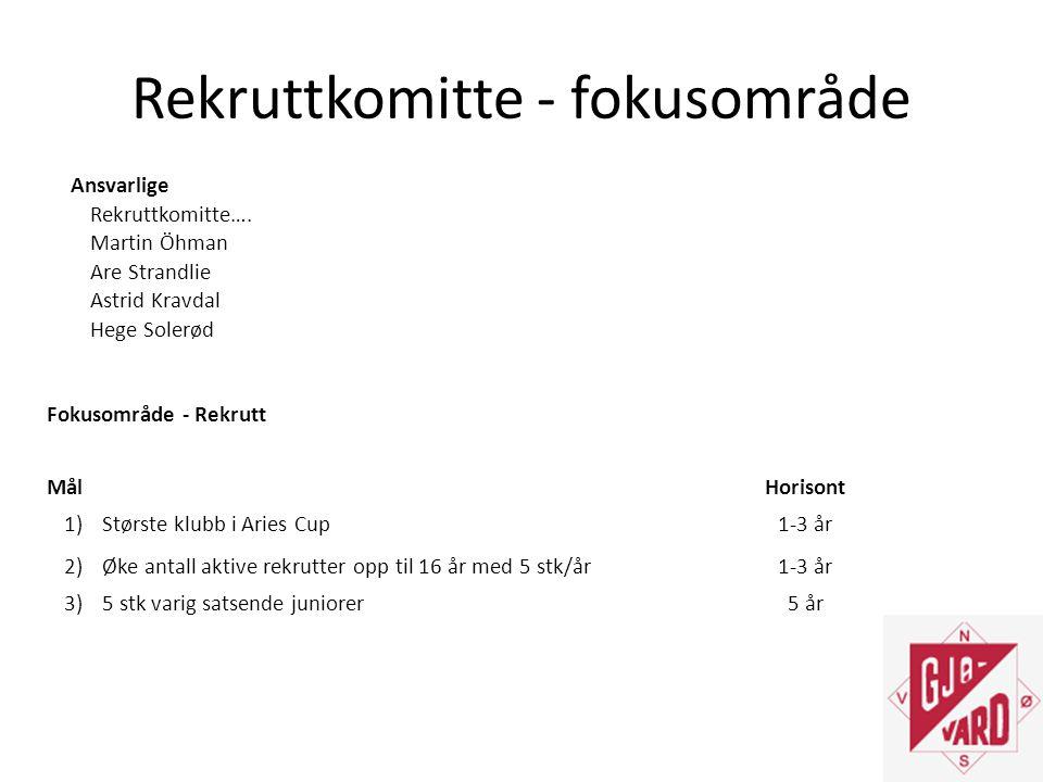 Rekruttkomitte - fokusområde Ansvarlige Rekruttkomitte….