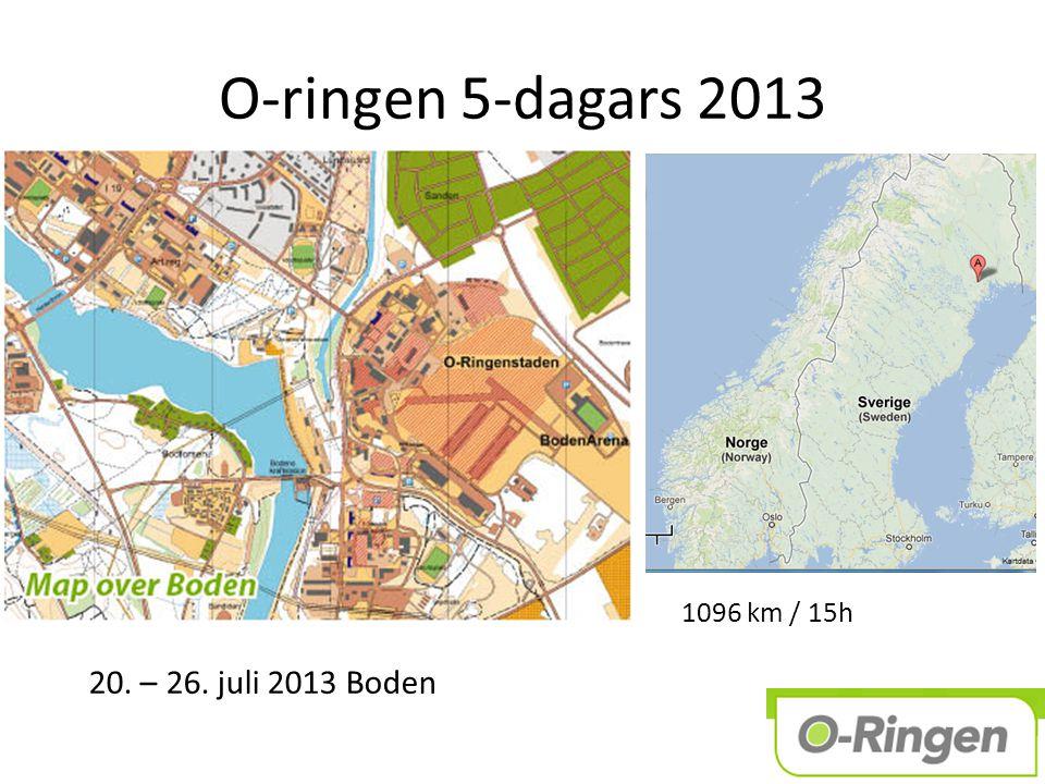 O-ringen 5-dagars 2013 20. – 26. juli 2013 Boden 1096 km / 15h