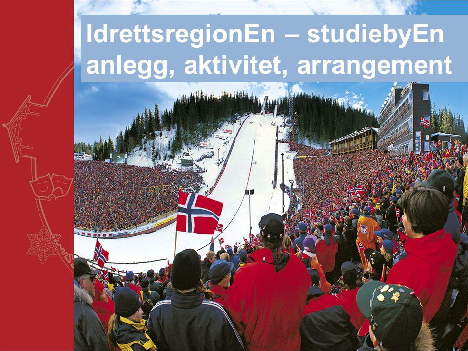 Trondheim kommune IdrettsregionEn – studiebyEn anlegg, aktivitet, arrangement
