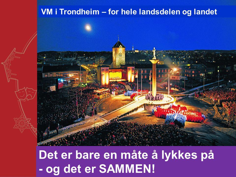 Trondheim kommune Det er bare en måte å lykkes på - og det er SAMMEN! VM i Trondheim – for hele landsdelen og landet
