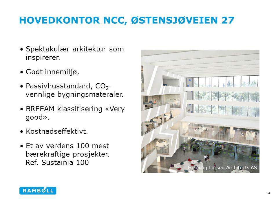 HOVEDKONTOR NCC, ØSTENSJØVEIEN 27 •Spektakulær arkitektur som inspirerer.