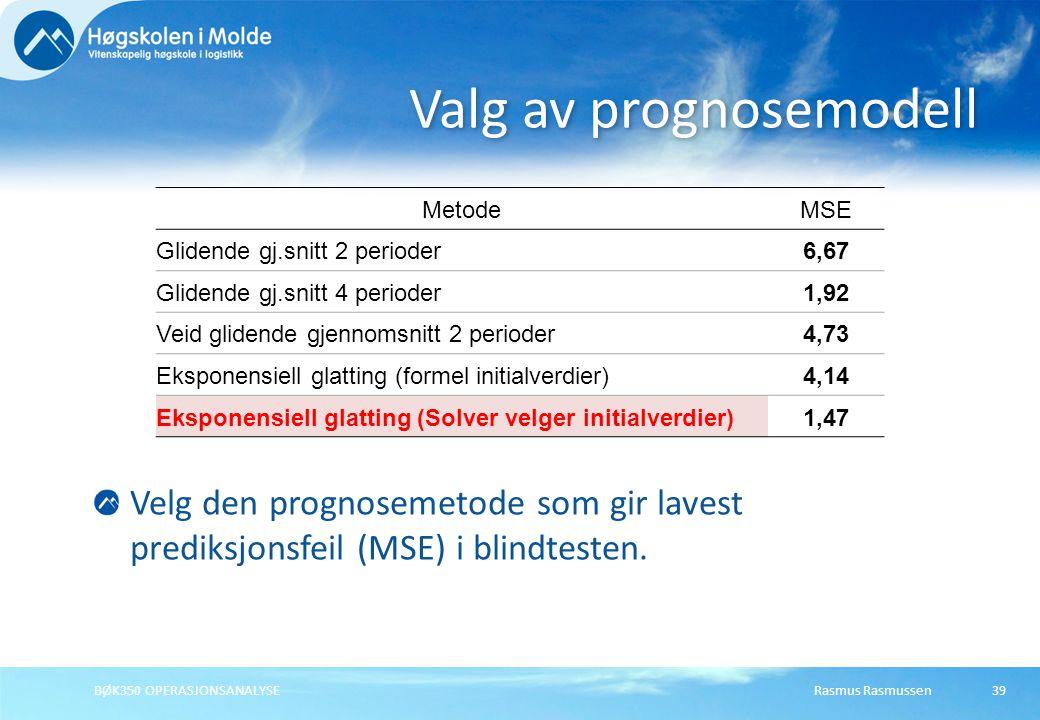 Rasmus RasmussenBØK350 OPERASJONSANALYSE40 Sesongvariasjoner er et jevnt, repeterende mønster rundt en nivålinje, og er veldig vanlig i økonomiske data.