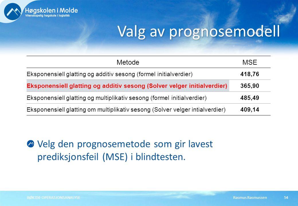 Rasmus RasmussenBØK350 OPERASJONSANALYSE55 Trend er en langsiktig bevegelse eller utvikling i en generell retning for en tidsserie.