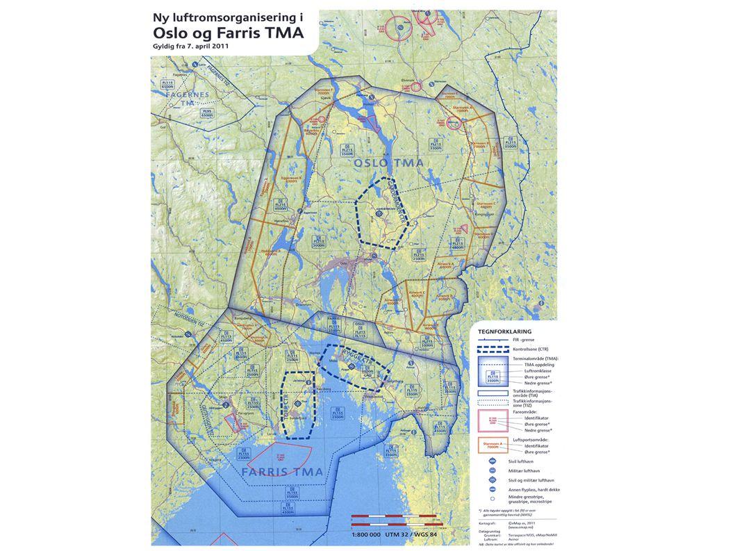 Luftsportsbokser ● Hopping innenfor TMA (f.eks demohopp) i henholdt til avtale mellom NLF og Avinor Oslo ATTC.
