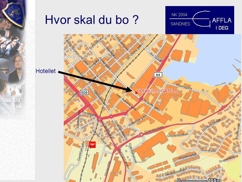 Hotellet Hvor skal du bo ?