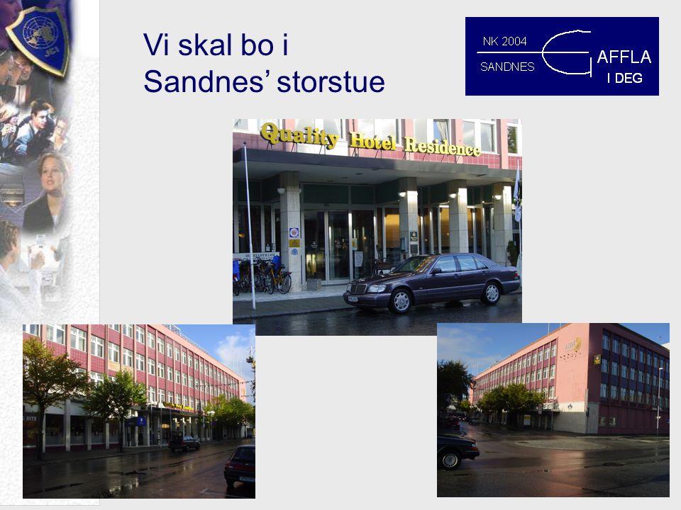 Vi skal bo i Sandnes' storstue