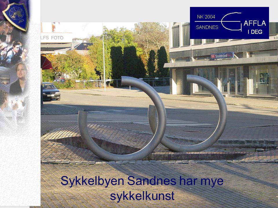 Sykkelbyen Sandnes har mye sykkelkunst