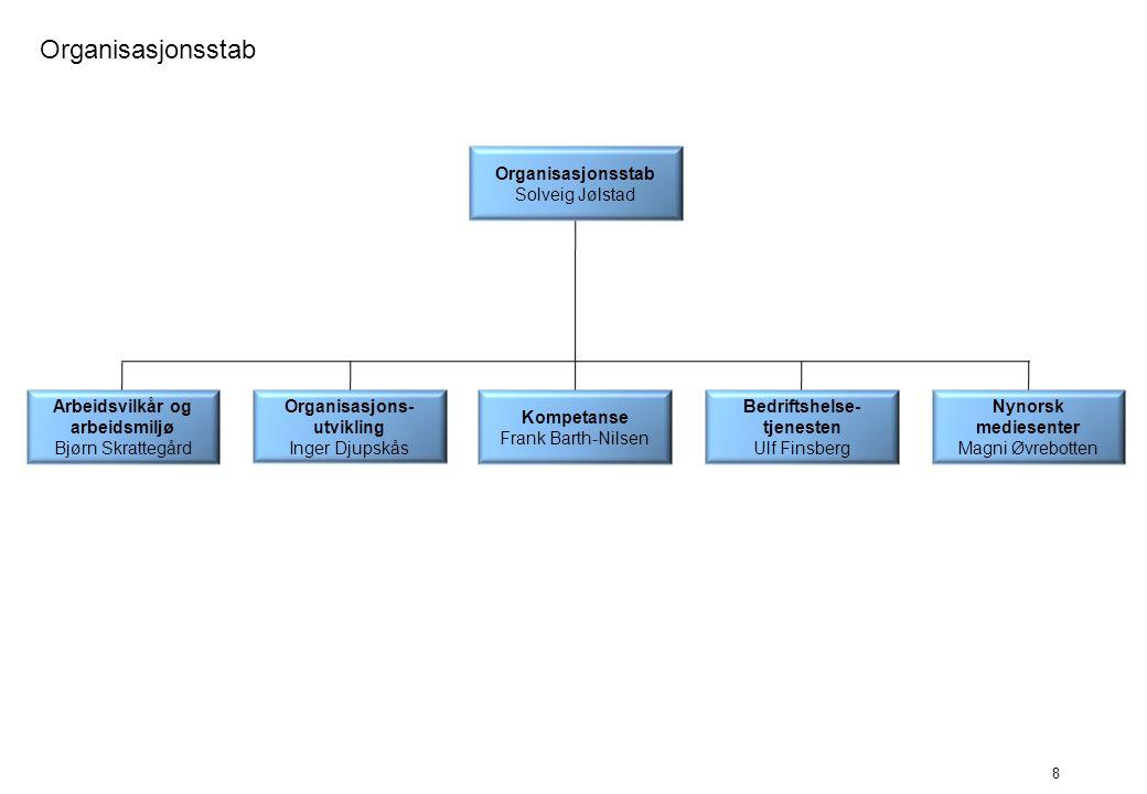 9 Informasjon Publikumsservice Gro Stenvik Informasjons- avdelingen Tommy Hansen (fung) Informasjon Øyvind Werner Øfsti