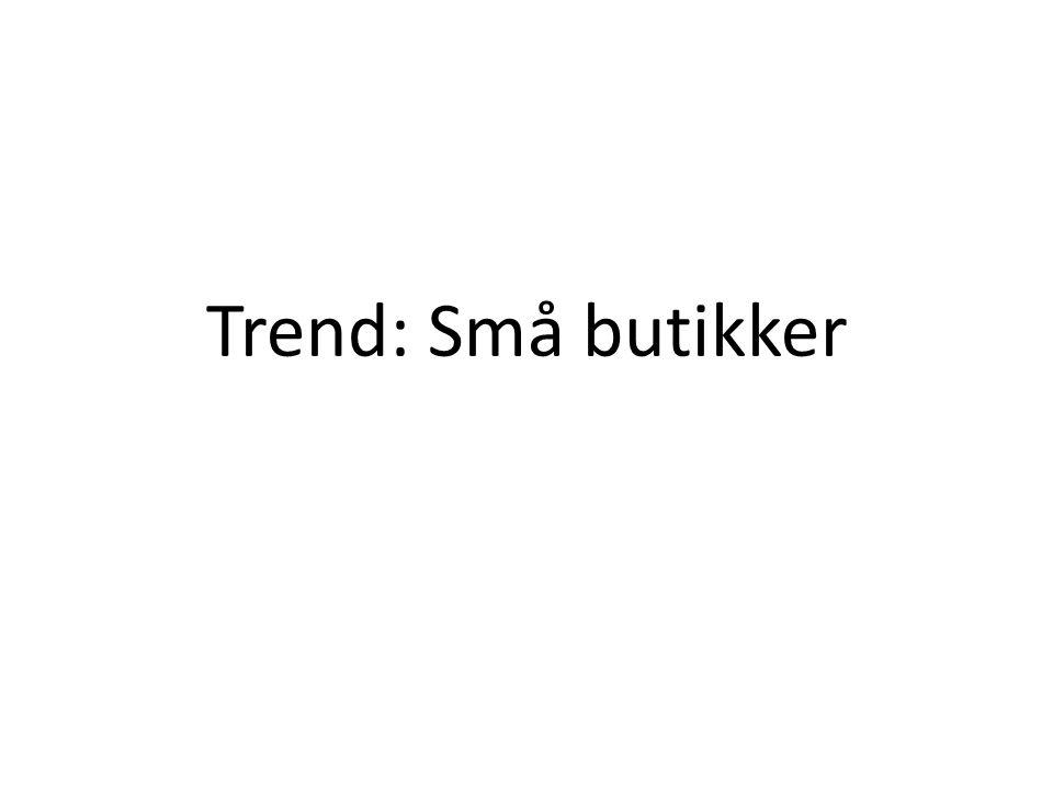 Trend: Små butikker