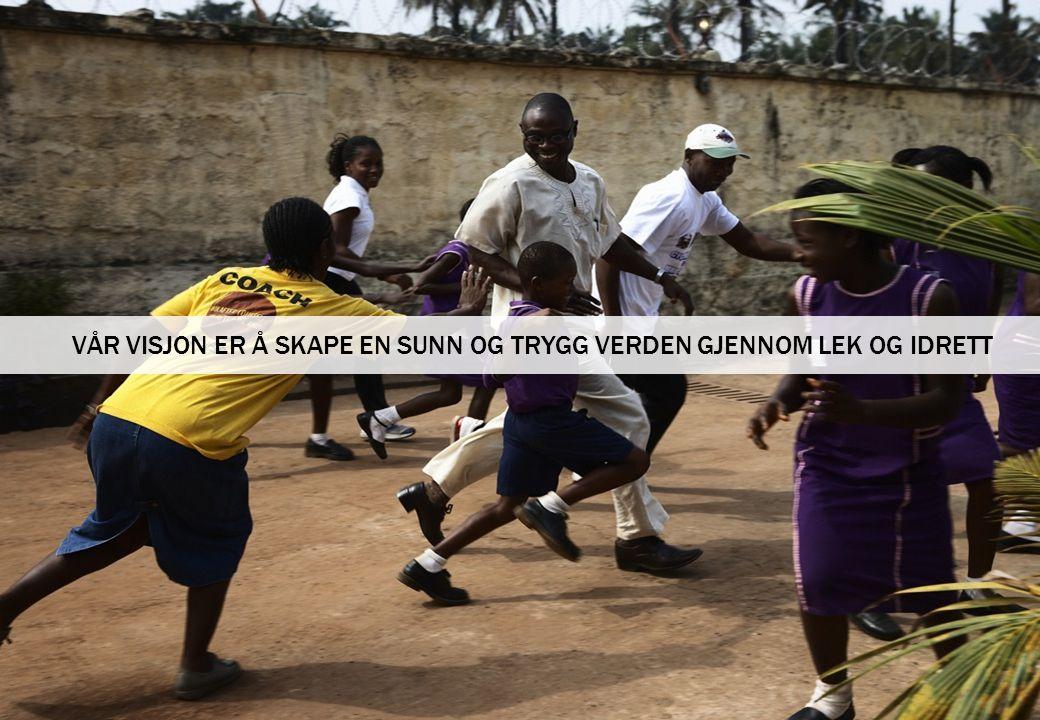 4 Right To Play skal gjennom lek og idrett utdanne og bedre barn og unges evne til å takle utfordringene ved fattigdom, konflikt og sykdom i vanskeligstilte områder i verden.