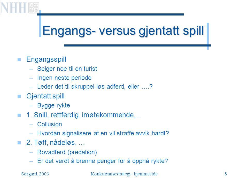 Sørgard, 2003Konkurransestrategi - hjemmeside9 Privat informasjon.