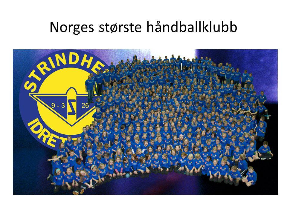 Godt grunnlag for å etablere elitelag • Strindheim håndballklubb er landets største håndballklubb med over 70 lag jevnt fordelt på gutter og jenter.