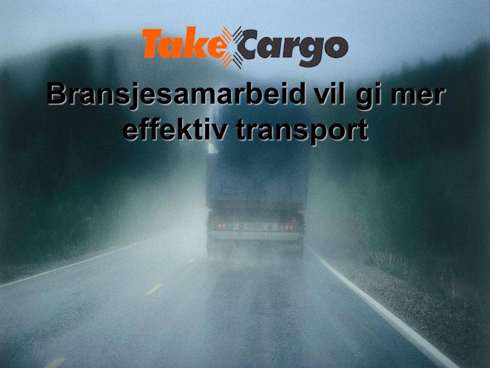 Bransjesamarbeid vil gi mer effektiv transport