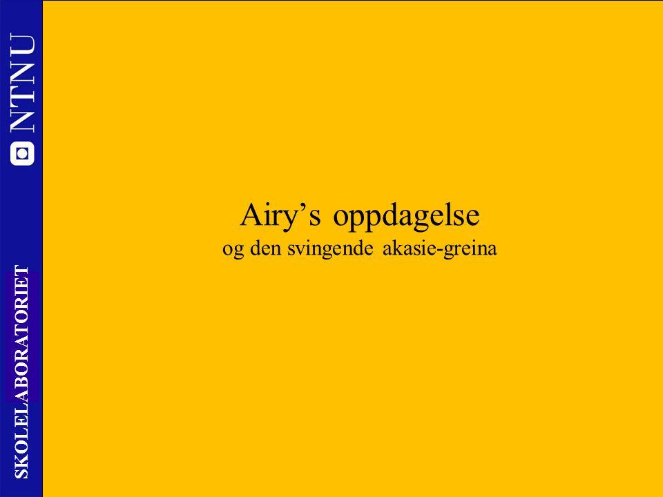 11 SKOLELABORATORIET Nils Kr. Rossing – DKSS 28.02.2014 Airy's oppdagelse og den svingende akasie-greina
