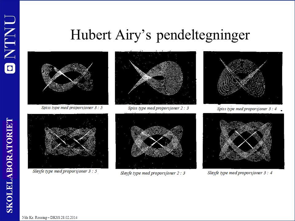 16 SKOLELABORATORIET Nils Kr. Rossing – DKSS 28.02.2014 Hubert Airy's pendeltegninger