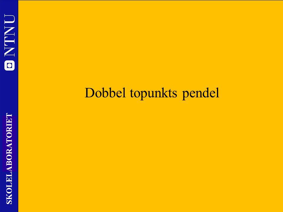 21 SKOLELABORATORIET Nils Kr. Rossing – DKSS 28.02.2014 Dobbel topunkts pendel