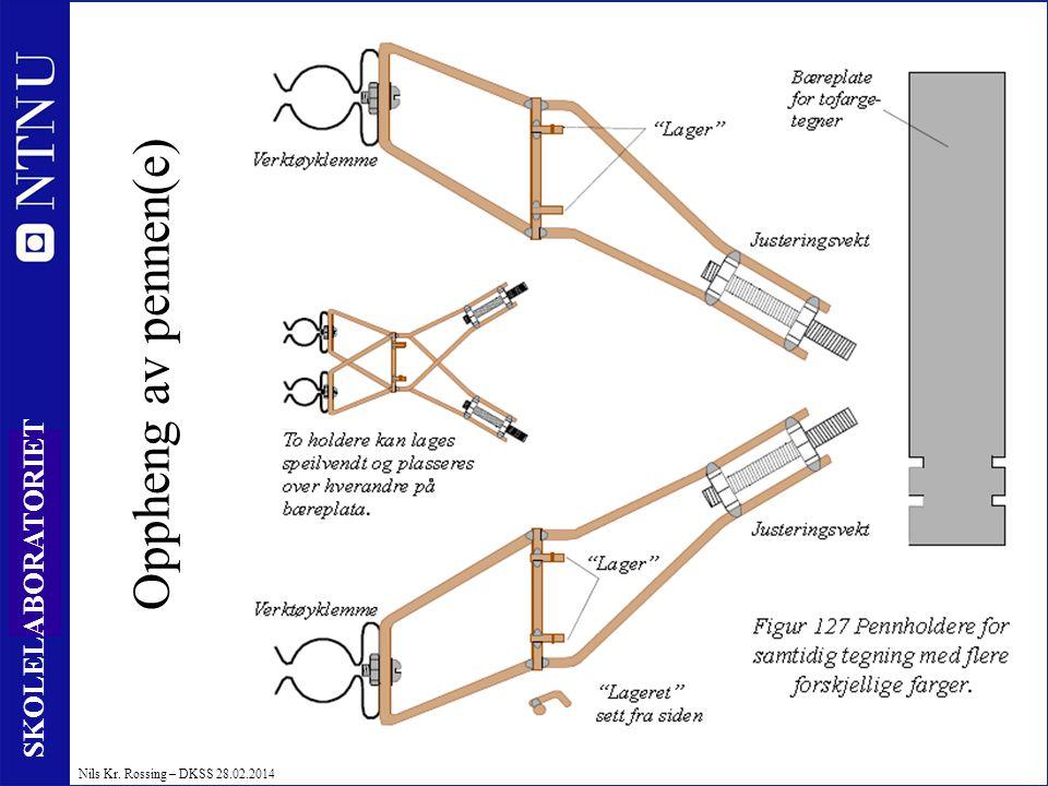 26 SKOLELABORATORIET Nils Kr. Rossing – DKSS 28.02.2014 Oppheng av pennen(e)