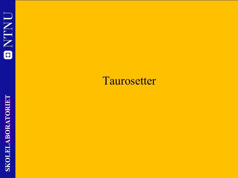 43 SKOLELABORATORIET Nils Kr. Rossing – DKSS 28.02.2014 Taurosetter