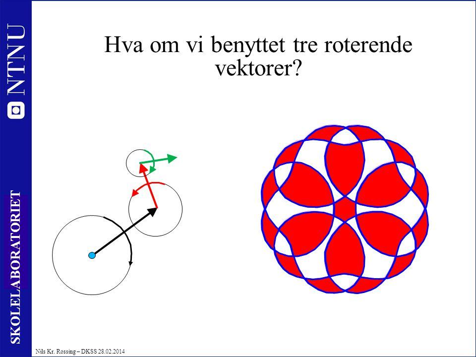 46 SKOLELABORATORIET Nils Kr. Rossing – DKSS 28.02.2014 Hva om vi benyttet tre roterende vektorer? Nils Kr. Rossing
