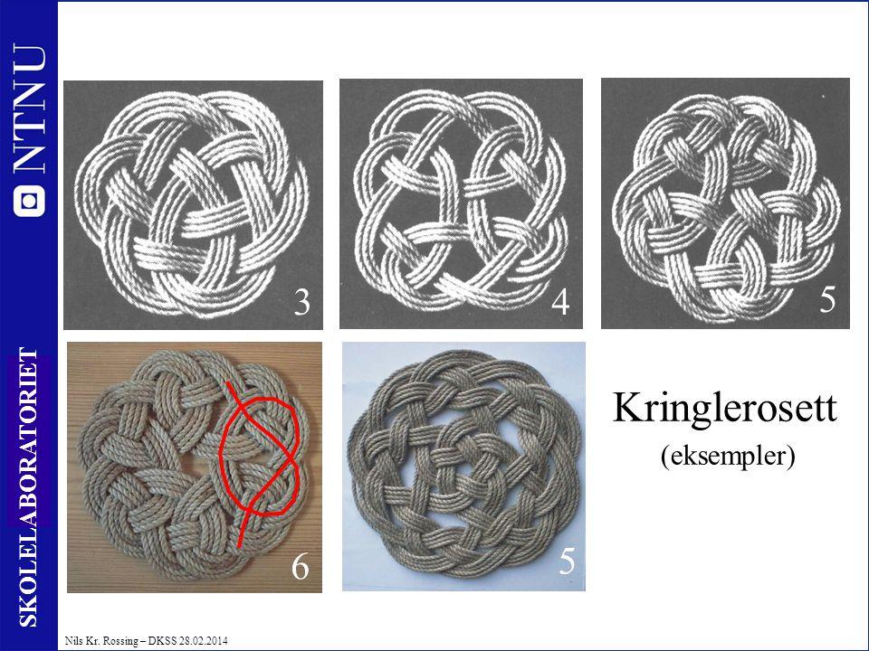 47 SKOLELABORATORIET Nils Kr. Rossing – DKSS 28.02.2014 Kringlerosett (eksempler) 43 5 6 5