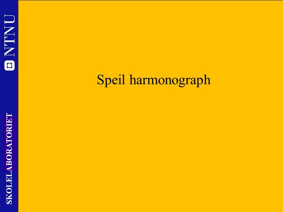 48 SKOLELABORATORIET Nils Kr. Rossing – DKSS 28.02.2014 Speil harmonograph