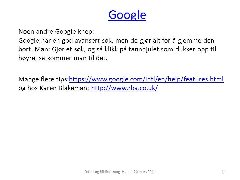 Google Noen andre Google knep: Google har en god avansert søk, men de gjør alt for å gjemme den bort.