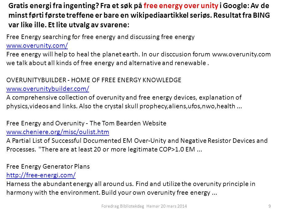 Gratis energi fra ingenting.