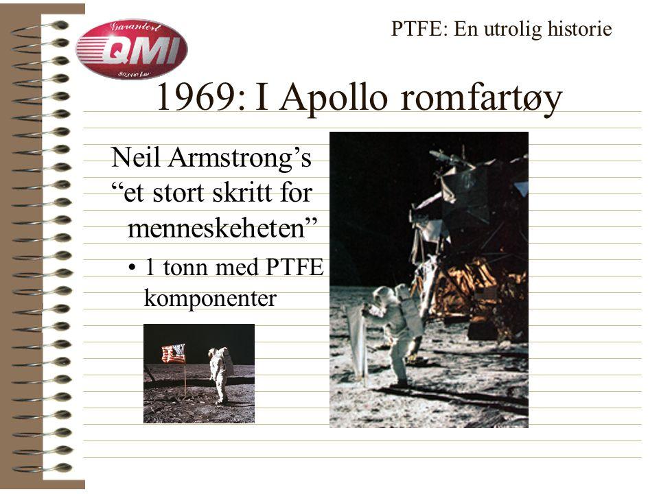 PTFE løsninger for: • Raketter • Mercury • Apollo • NASA PTFE: En utrolig historie