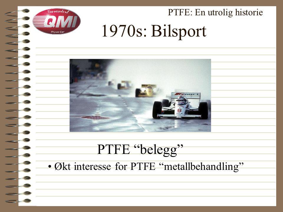 Velkjente anvendelser PTFE: En utrolig historie Tekstiler • Gore Tex ® Superglatt (Non-stick) stekepanne • Teflon ® / PTFE