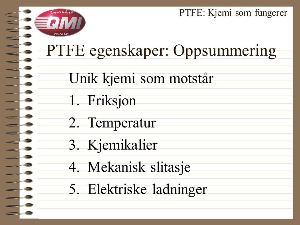 Retningsbetinget PTFE: Kjemi som fungerer Molekylene forandrer retning • lavt trykk = liten forandring • høyt trykk = økt forandring —rivestyrken øker 45% —friksjonen reduseres 30%