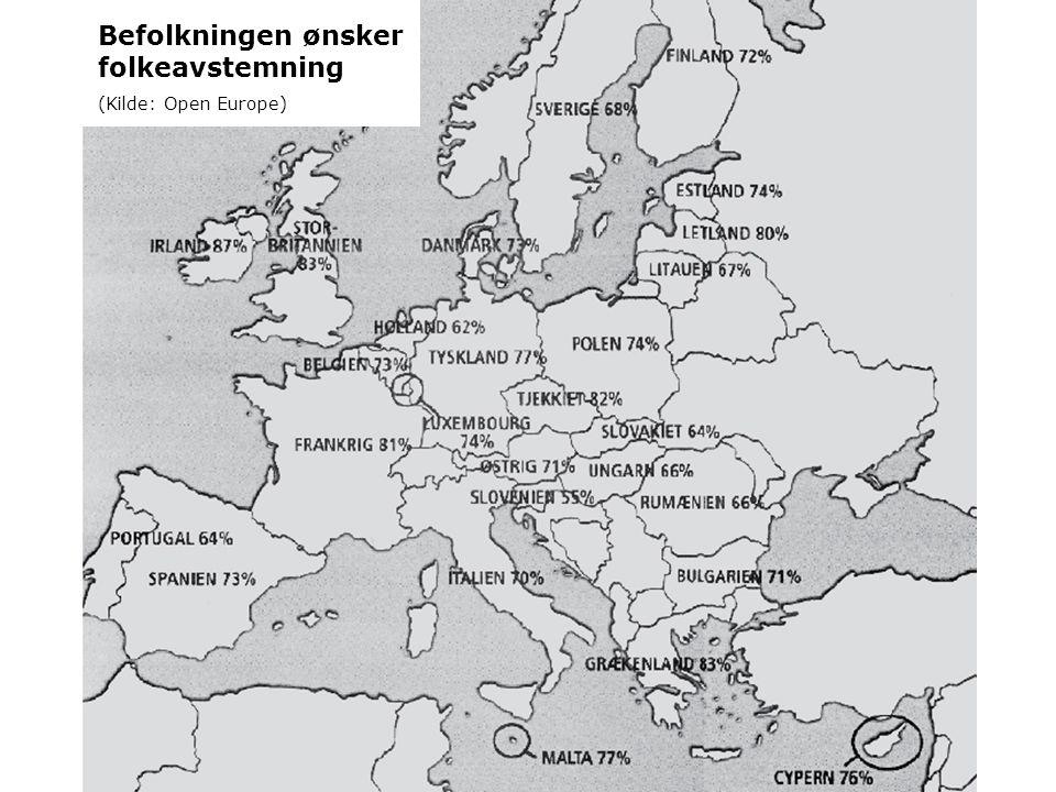 Befolkningen ønsker folkeavstemning (Kilde: Open Europe)