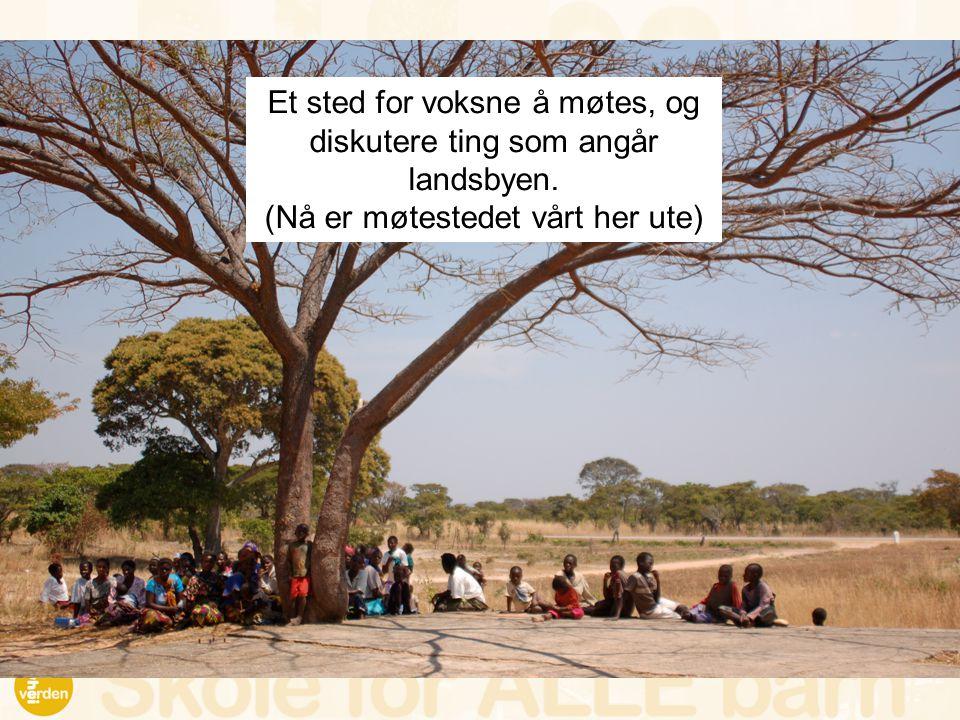 Et sted for voksne å møtes, og diskutere ting som angår landsbyen. (Nå er møtestedet vårt her ute)