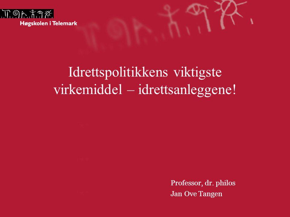 Idrettspolitikkens viktigste virkemiddel – idrettsanleggene! Professor, dr. philos Jan Ove Tangen