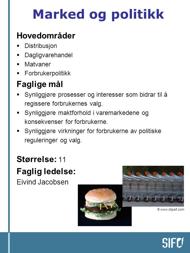 Prosjekt 4: Trust in Food Oppdragsgiver: EUs 6.