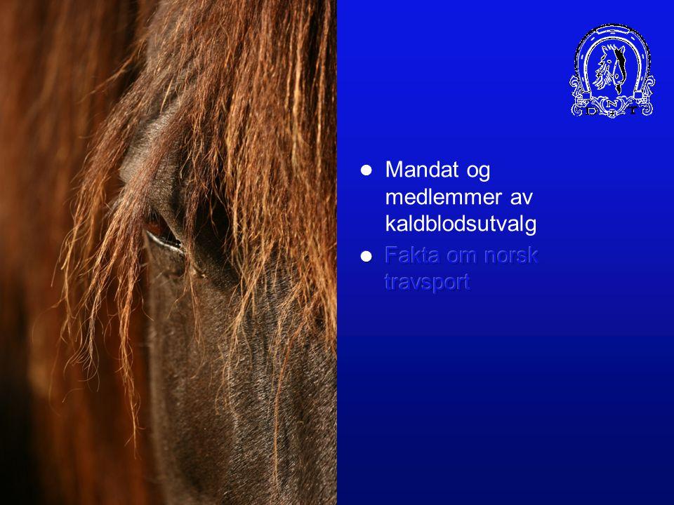 DET NORSKE TRAVSELSKAP KALDBLODSHESTENS FRAMTID Per-Ole Tysland/ Tron Gravdal