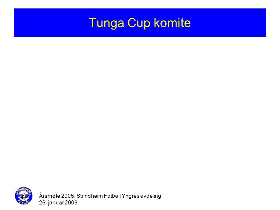 Årsmøte 2005, Strindheim Fotball Yngres avdeling 26. januar 2006 Tunga Cup komite