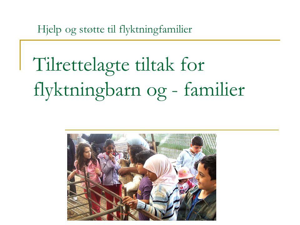 Omar Mekki mars 2010 Tilrettelagte tiltak for flyktningbarn og - familier Hjelp og støtte til flyktningfamilier