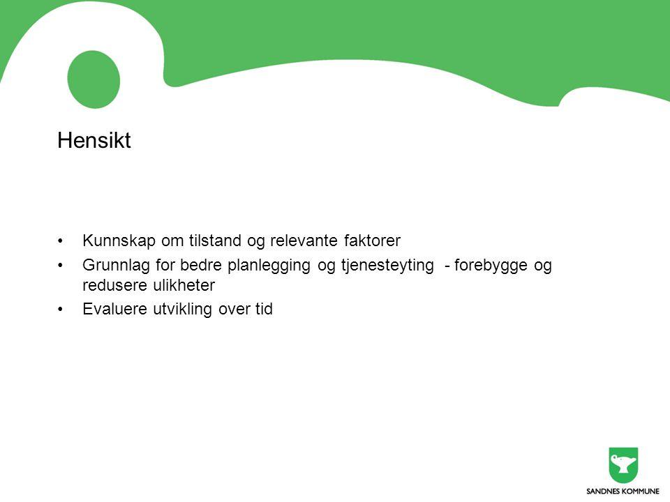 Hvem deltar i forumet •Styringsgruppen for Sandnes som Sunn by •Folkehelsegruppa og miljøverngruppa •Levekår, oppvekst skole, oppvekst barn og unge, kultur og byutvikling •Eldrerådet, Rådet for personer med nedsatt funksjonsevne, Innvandrerrådet •Stavanger turistforening, Jæren friluftsråd