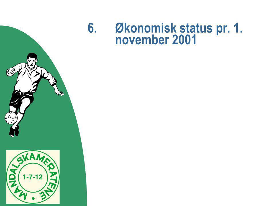 6.Økonomisk status pr. 1. november 2001