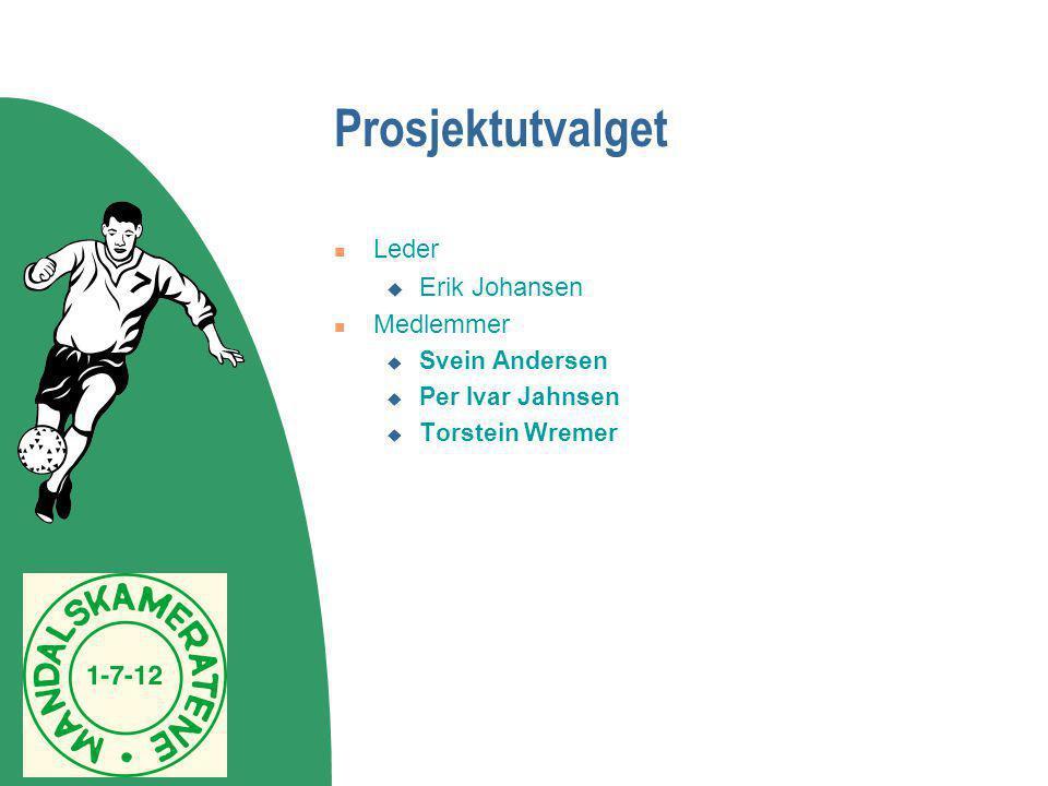 Prosjektutvalget  Leder  Erik Johansen  Medlemmer  Svein Andersen  Per Ivar Jahnsen  Torstein Wremer