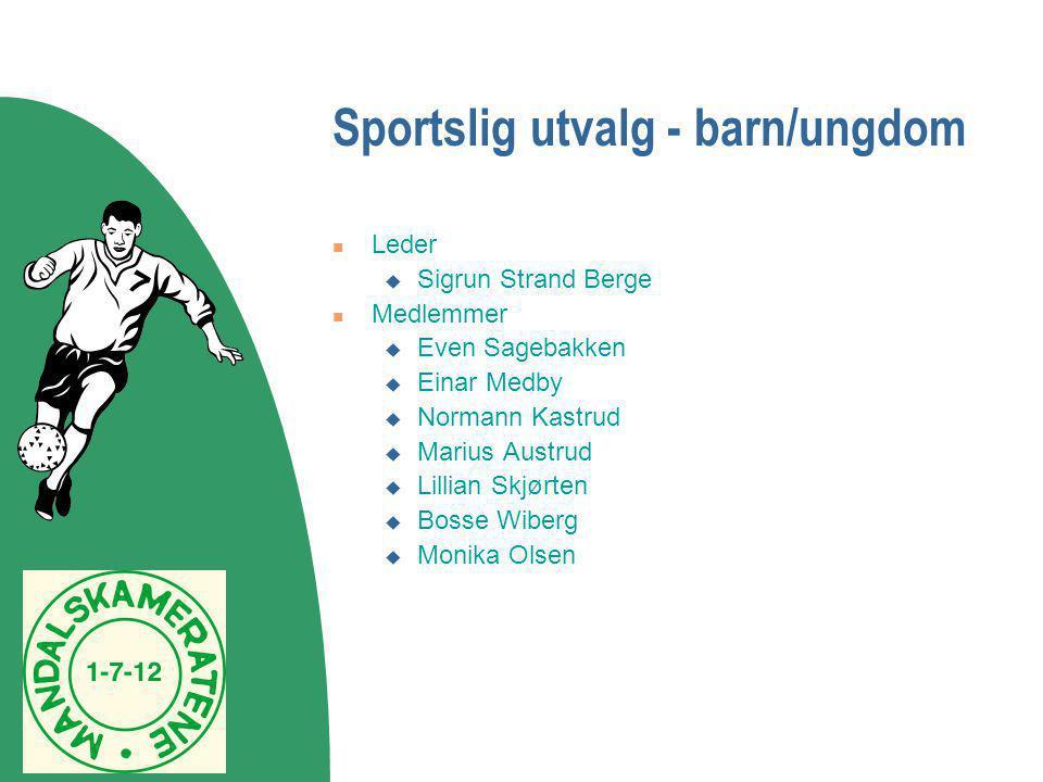 Sportslig utvalg - barn/ungdom  Leder  Sigrun Strand Berge  Medlemmer  Even Sagebakken  Einar Medby  Normann Kastrud  Marius Austrud  Lillian