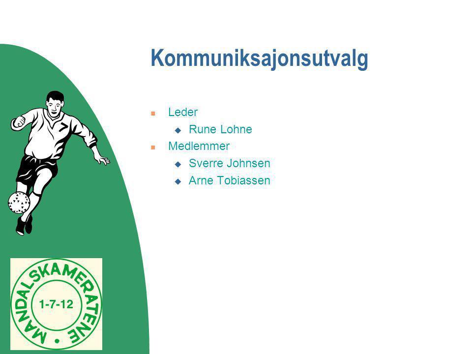 Kommuniksajonsutvalg  Leder  Rune Lohne  Medlemmer  Sverre Johnsen  Arne Tobiassen